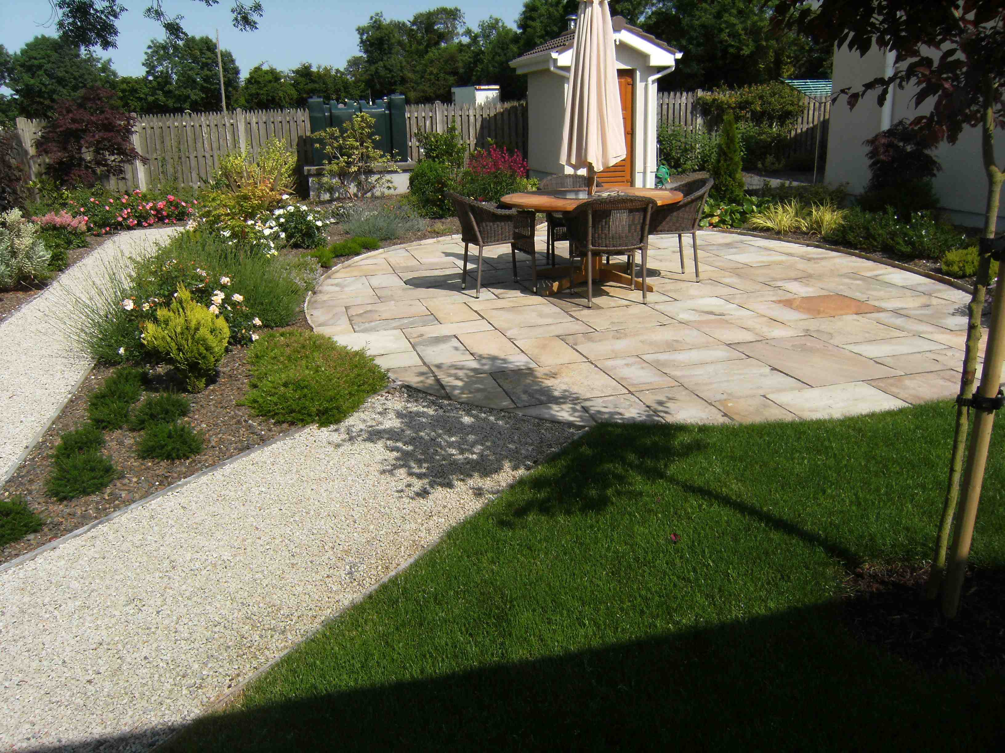 Affordable garden design affordable simple front yard for Award winning patio designs